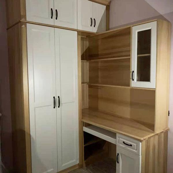 定制实木衣柜书桌一体