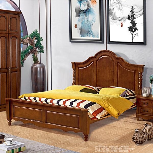 实木床五门带五门顶衣柜