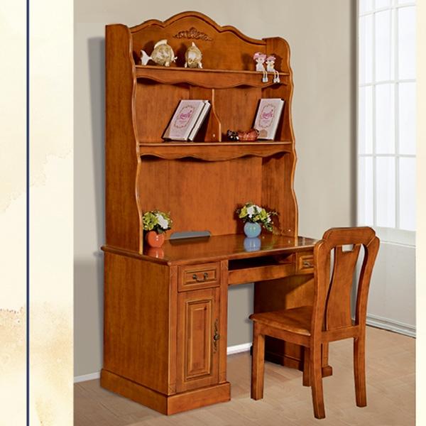 欧式电脑桌带书架