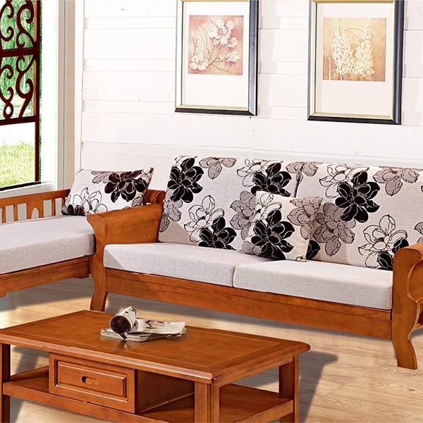 实木沙发单抽茶几