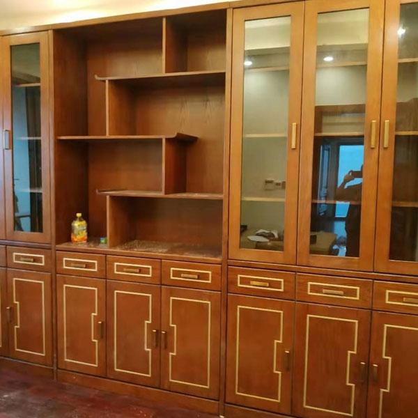 定制实木书柜